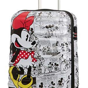 American Tourister Wavebreaker Disney Comics Spinner S Valigia per Bambini 55 cm 36 L Multicolore Minnie Comics White