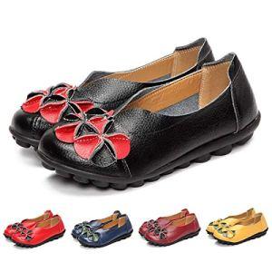 gracosy Donne Mocassini da Donna PrimaveraEstate Vintage Fiori Fatto A Mano Pelle Scarpe Stile Loafers Comode Slip On Scarpe Espadrillas Scarpe da Guida Scarpe da Passeggio