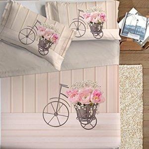Ipersan Vintage Parure Lenzuola Fotografico piazzato FineArt 100 Cotone Rosso Matrimoniale 50 x 75 cm 3 unit