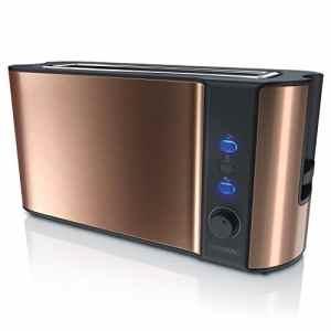 arendo  Tostapane Modello Frukost  Automatico e Completamente Regolabile  Accessoriato  Design Rame