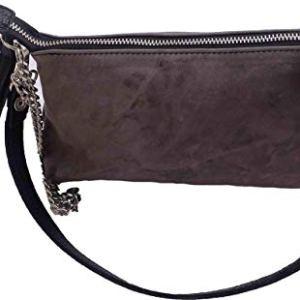 Borsa borsetta a spalla o a tracolla pochette beautycase astuccio in vera pelle pregiata e riciclata effetto vintage Col Zinco
