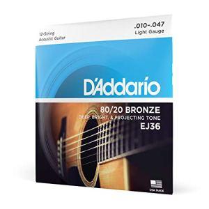 DAddario EJ36 Set Corde Acustica EJ 8020 BRZ RND WND