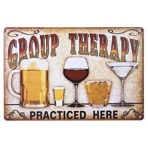 Fenical Targhe in metallo vintage Wall placca Poster Terapia di gruppo praticato qui per Cafe Bar Pub birra Club parete Home Decor