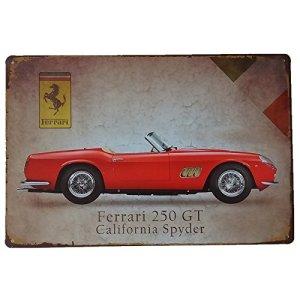 MARQUISE  LOREAN Targhe Metallo  Insegna Vintage Auto Ferrari Targa  Poster Decorazioni Garage Guarda Qui