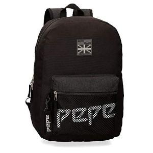 Pepe Jeans London Ren Backpack  Portafogli Bambino Nero Black 13x30x37 cm W x H L