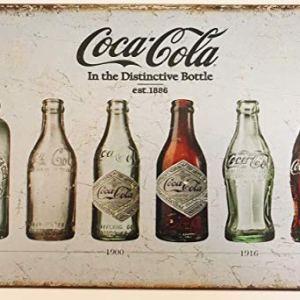 Placca targa in metallo da parete stile vintage tema Coca Cola in bottiglia stile retr 30x 20cm