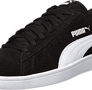 PUMA SMASH V2 Sneaker UnisexAdulto Nero BLACK WHITE SILVER 375 EU
