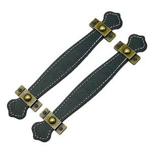 SUPVOX  2 Maniglie per cassetti Vintage in Pelle Stile retr Maniglie per Valigia Maniglie per armadietti Maniglia per Porta Marrone