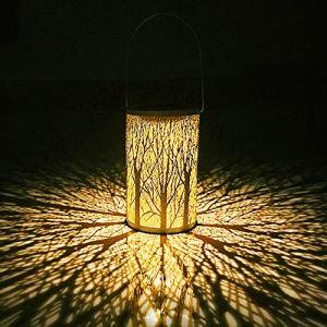 WZTO Lanterna solare le luci solari marocchina Silhouette appendere le luci IP44 Impermeabile LED Vintage Lampada da Giardino Calda Luce Notturna Bianca Patio cortile Balcone