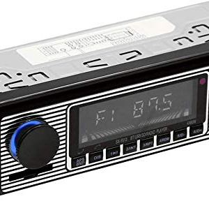 Centeraly Autoradio Stereo FM Retro Radio Smart Lettore Stereo Bluetooth Auto MP3 Lettore USBWavAux Mani Libere Chiamata Digitale FM Stereo Radio  Nero Free Size