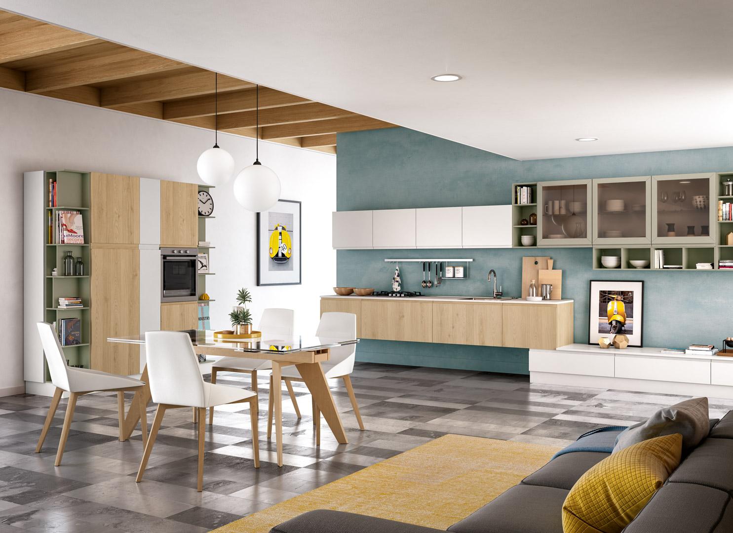 La concezione di cucina e soggiorno open space moderno abolisce le. Come Arredare Cucina Open Space E Soggiorno Distinguendo Gli Ambienti Arredare La Cucina