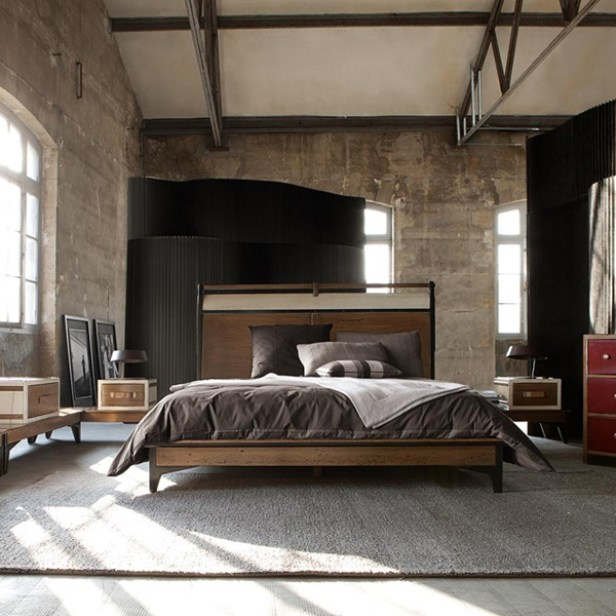 industrial-bedroom-with-classical-wall-big-bed-size-in-the-center-of-the-room
