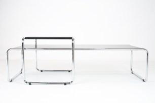 Marcel Breuer coffee table chromed formica