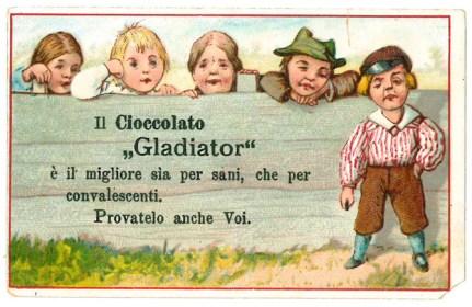 20) Il cioccolato 'Gladiator' ä il migliore..., s.d.
