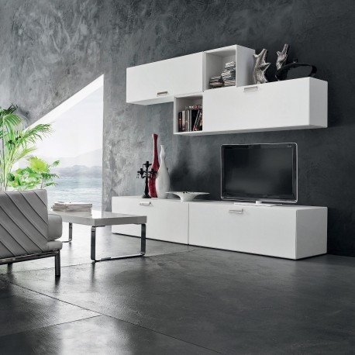 Mobile soggiorno carrè per televisore con libreria. Mobili Da Soggiorno Per Tv Moderni Otto