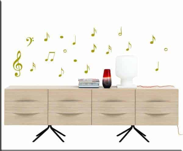 Adesivo murale di alta qualità con pellicola opaca di facile installazione. Adesivi Murali Note Musicali Decorazioni Adesive Originali Da Parete