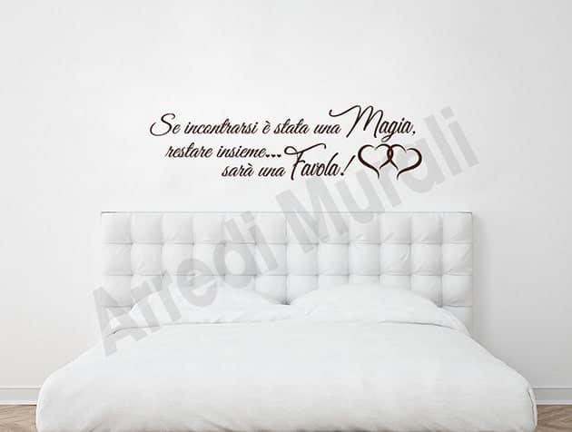 Decorare le pareti della camera da letto: Adesivi Murali Frase Camera Da Letto Decorazioni Arredo