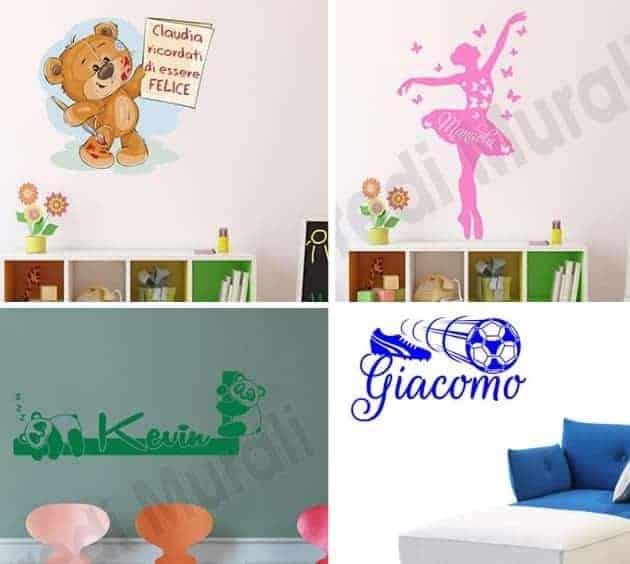 Il grande albero adesivo è disponibile in diversi colori. Adesivi Murali Con Nomi Wall Stickers Personalizzati Con Nome Arredimurali