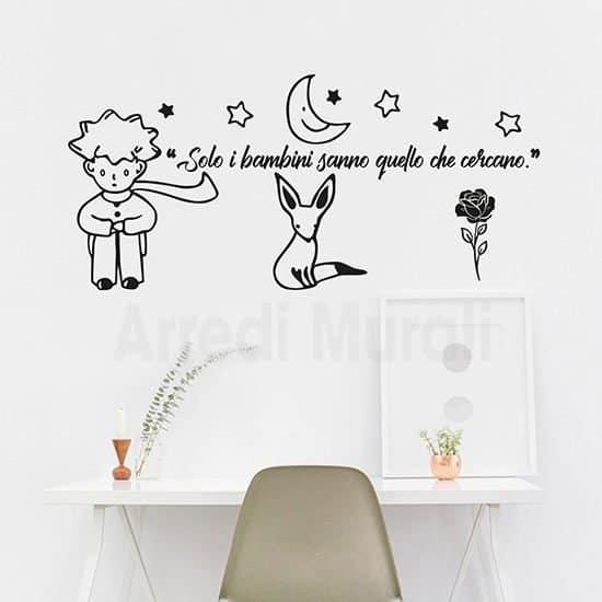 Create ai bambini una cameretta colorata e ispirativa con l´adesivo dell´orsetto con le stelle. Adesivi Murali Piccolo Principe Solo I Bambini Sanno Quello Che Cercano