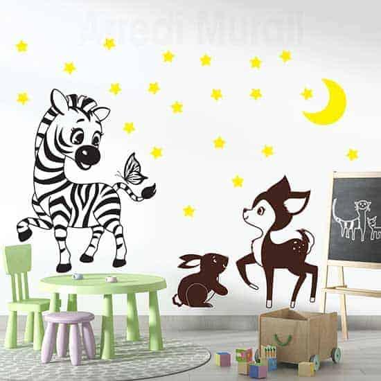 Adesivi murali adesivo wall stickers casa. Decorazioni Adesive Per Le Camerette Dei Bambini Per Arredare Le Pareti