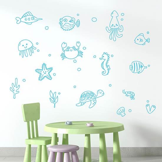 Adesivi murali bambini personalizzati per la cameretta con nomi in vari colori. Disegni Adesivi Murali Per Bambini Per Decorare Le Pareti Della Cameretta