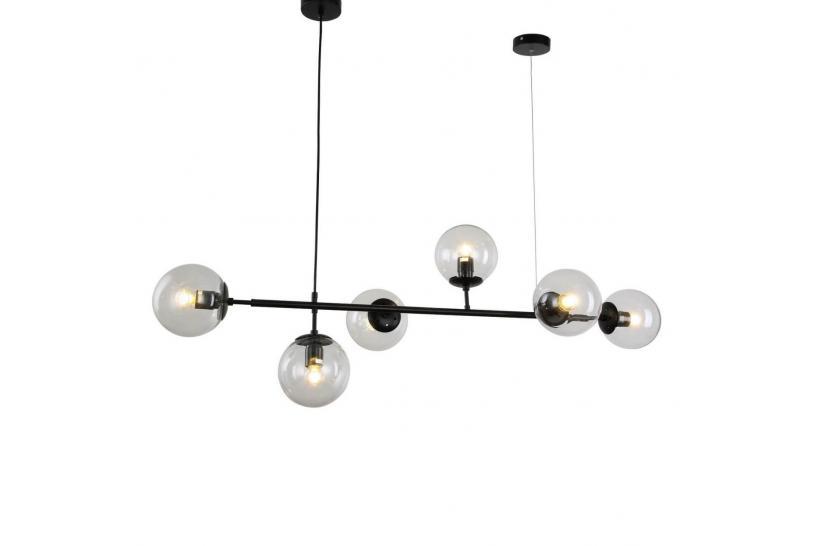 Led 5x3w 975lm 3000k numero di luci: Lampadario A Sospensione Di Design Moderna Con 6 Sfera In Vetro Ceredo