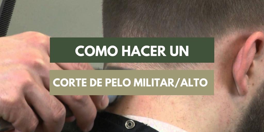 corte de pelo militar para hombre