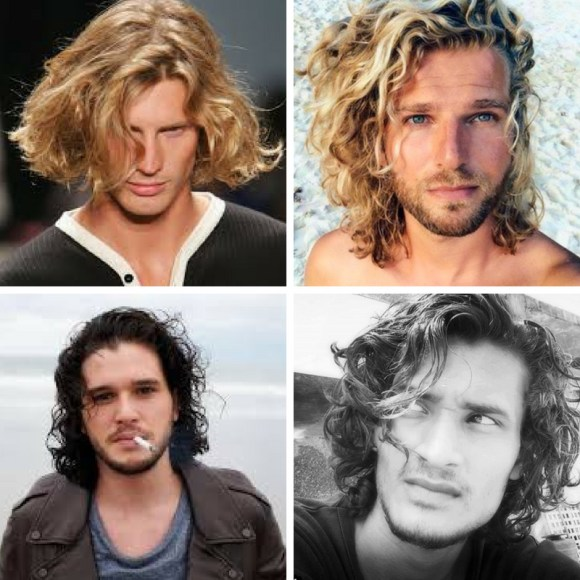 cortes de pelo largo rizado hombre