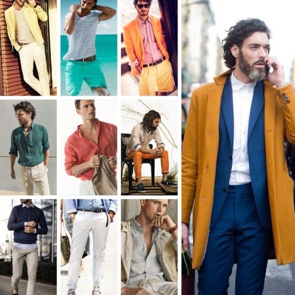moda por colores para hombres