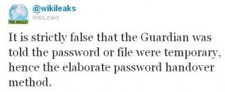 Wikileaks Guardian Twitter