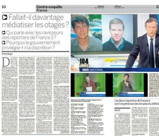 Pas d'otage Shalit dans Le Monde