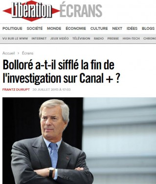 Libération Bolloré