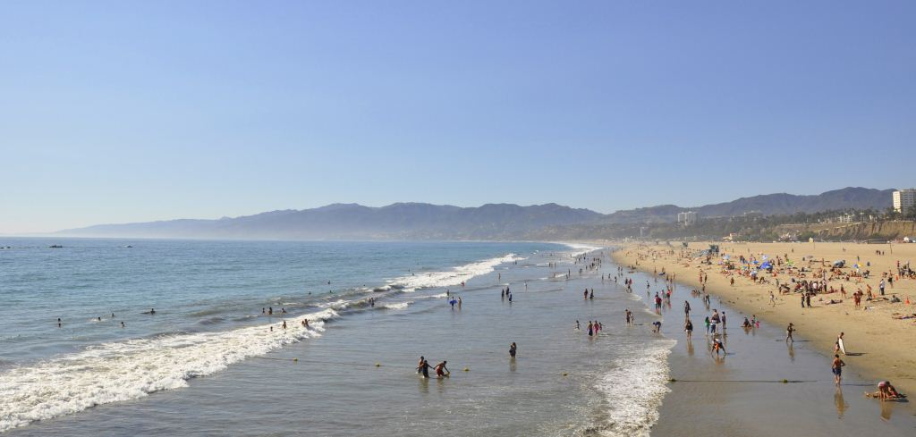 The beaches in Santa Monica seem to go on forever. Credit: Curt Woodhall