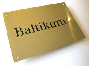 brass plaques for banks