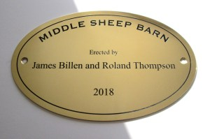 oval brass plaques