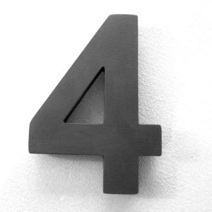 200mm high black house numbers