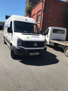 "img src=""Arrow-Couriers-Crafter-Arrow-9-by-unknown-factory-sunshine.jpg"" alt=""Arrow Courier Services VW Crafter at unknown factory"""