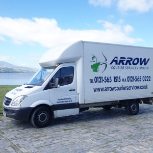 "img src=""Arrow-Couriers-Luton-Bala-Lake-1.jpg"" alt=""Arrow Courier Services Luton with tail lift at Bala Lake"""