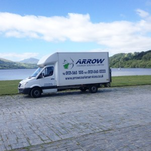 "img src=""Arrow-Couriers-Luton-Bala-Lake-2.jpg"" alt=""Arrow Courier Services Luton with tail lift at Bala Lake"""