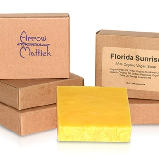 Arrow Mattick florida sunrise organic soap