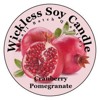 Cranberry Pomegranate Wickless Candle