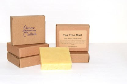 Tea Tree Mint Hair, Beard and Body Soap