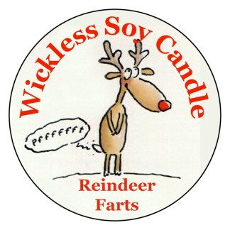 Reindeer Farts Wickless Candle
