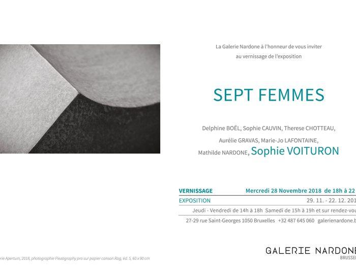 Sophie Voituron expose à la Galerie Nardone : «Sept Femmes»
