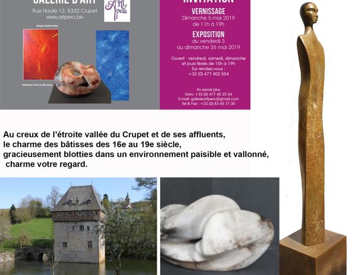 Martine France Moreau expose à la galerie d'Art Artpéro du 03 mai au 26 mai