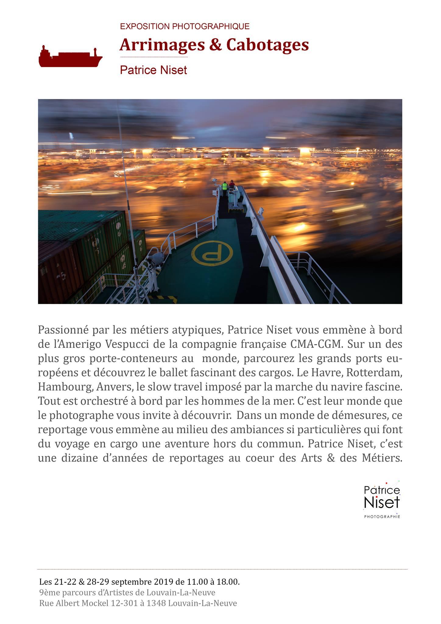 """Exposition """"Arrimages et Cabotages"""" (Patrice Niset)"""