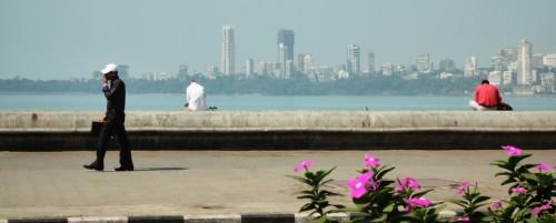 A Mumbai view from Marine Drive