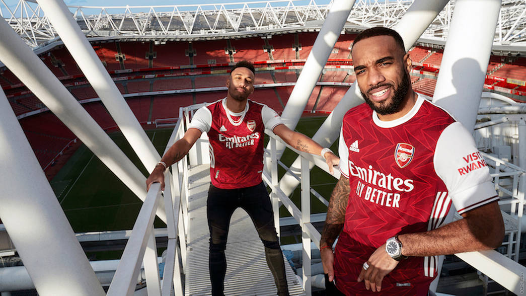 arsenal stars in new adidas home kit
