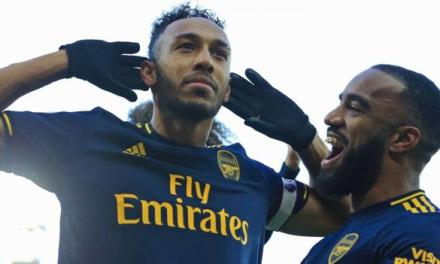 Aubameyang at the Double as Canaries Hold Arsenal