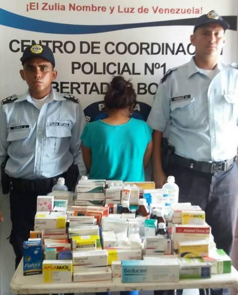 Presa una mujer en el centro de Maracaibo por venta ilegal de medicamentos